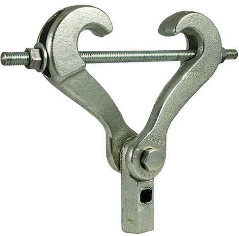 410, malleable scissor beam clamp, beam clamps, hanger rod, beam flange