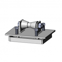 Pipe Roller Supports, 280S Adjustable Pipe Roll Stand with Base