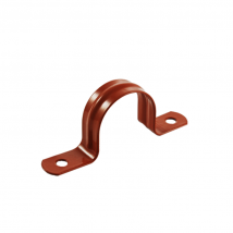 Pipe Stays & Straps, 45C 2-Hole Pipe Strap - Epoxy Coated Copper-Gard