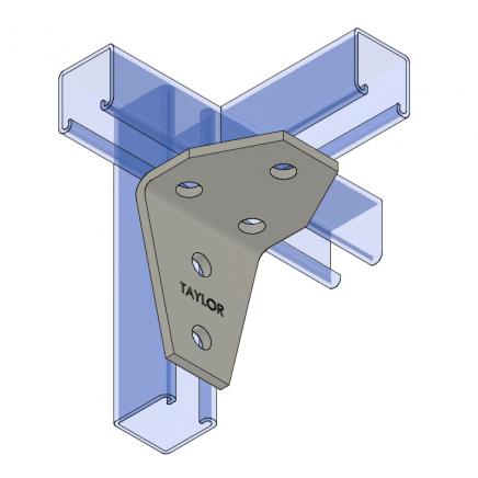 AF545 Five-Hole Shelf Gusset Angle
