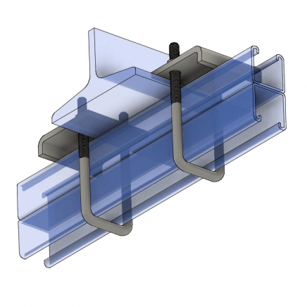 BC891 Beam Clamp - Double Strut   Taylor Pipe Supports