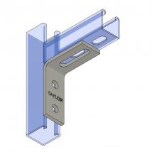 Strut Fitting - Angular, AF215 Three-Hole Adjustable Corner Angle