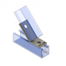 Strut Fitting - Angular, AF221-2 2-Hole Open Angle ( 45
