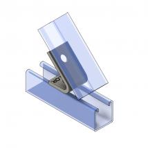 Strut Fitting - Angular, AF225-2 2-Hole Closed Angle ( 45