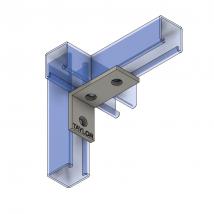 Strut Fitting - Angular, AF301 3-Hole Corner Angle