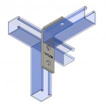 Strut Fitting - Angular, AF303 Three-Hole Corner Angle