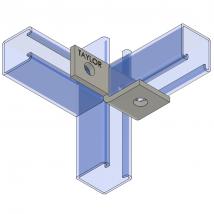 Strut Fitting - Angular, AF310 Three-Hole Offset Bent Angle