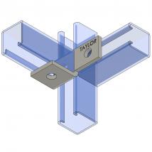 Strut Fitting - Angular, AF311 Three-Hole Offset Bent Angle