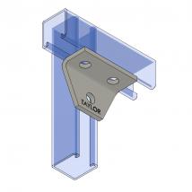 Strut Fitting - Angular, AF430 Three-Hole Shelf Gusset Angle