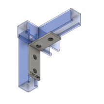 Strut Fitting - Angular, AF400 Four-Hole Corner Angle