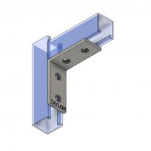Strut Fitting - Angular, AF401 Four-Hole Corner Angle