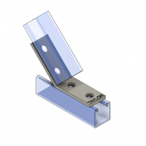 Strut Fitting - Angular, AF425-2 4-Hole Open Angle ( 45