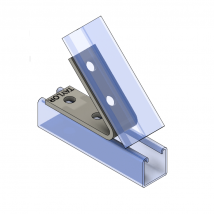 Strut Fitting - Angular, AF426-2 4-Hole Open Angle ( 45
