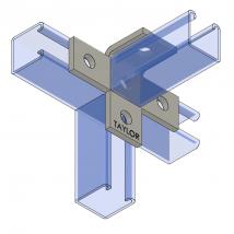 Strut Fitting - Angular, AF510 Five-Hole Offset Bent Tee