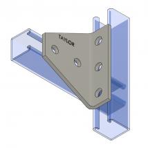 Strut Fitting - Angular, AF540 Five-Hole Shelf Gusset Angle