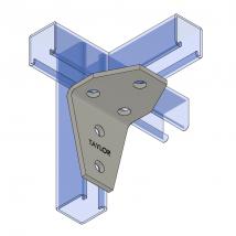 Strut Fitting - Angular, AF545 Five-Hole Shelf Gusset Angle