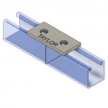 Strut Fitting - Flat, FP200 2-Hole Splice Plate