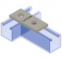 Strut Fitting - Flat, FP202 Two-Hole Splice Plate