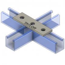 Strut Fitting - Flat, FP300 3-Hole Splice Plate