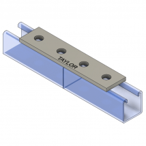 Strut Fitting - Flat, FP400 4-Hole Splice Plate