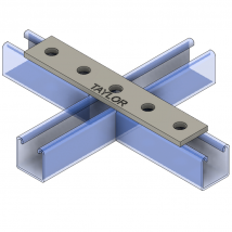 Strut Fitting - Flat, FP401 4-Hole Splice Plate