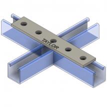 Strut Fitting - Flat, FP401 4-Hole Splice Plate
