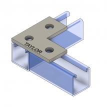 Strut Fitting - Flat, FP500  3-Hole Splice Plate