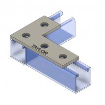 Strut Fitting - Flat, FP604 4-Hole Corner Plate
