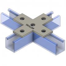Strut Fitting - Flat, FP700 5-Hole Cross Plate