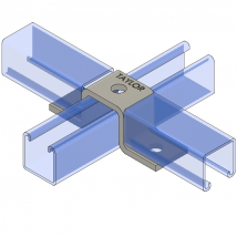 Strut Fitting - U Shape, UF315 Three-Hole Offset